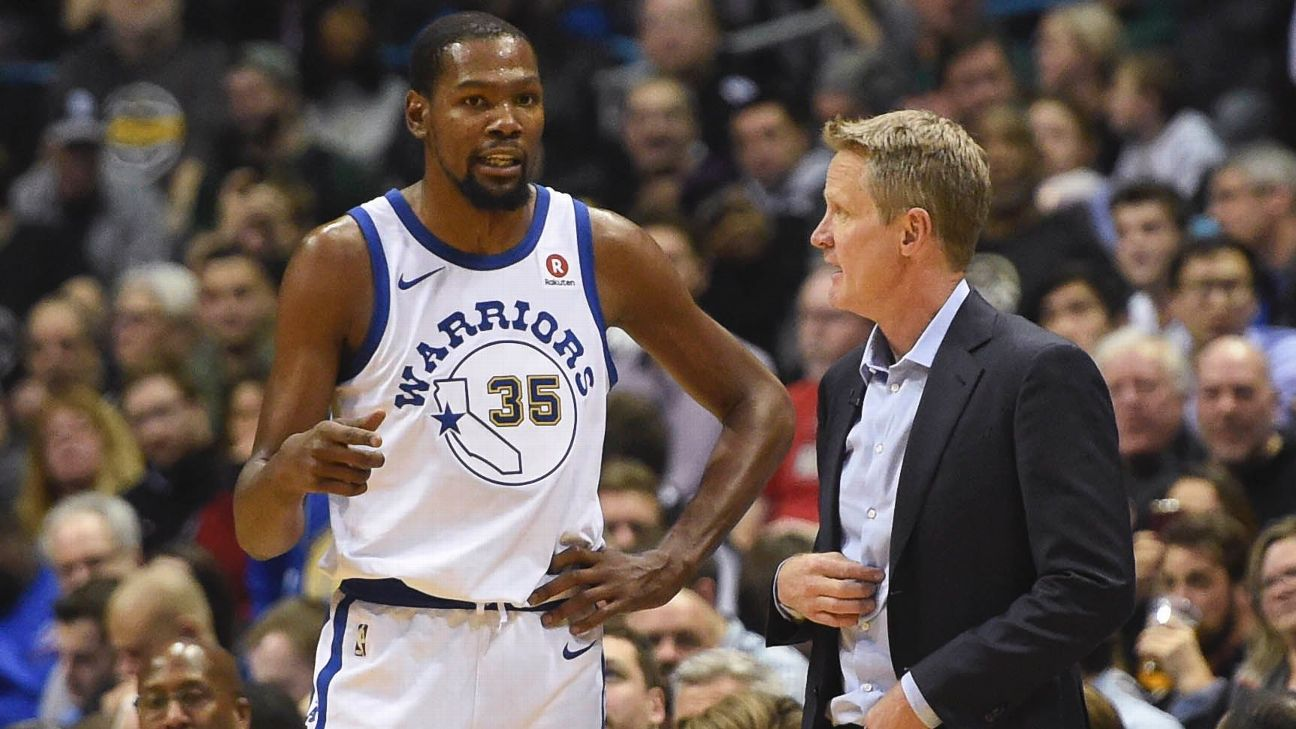 76f21b5e5cb Warriors  Steve Kerr   Everything was harder  for Kevin Durant in Y ...