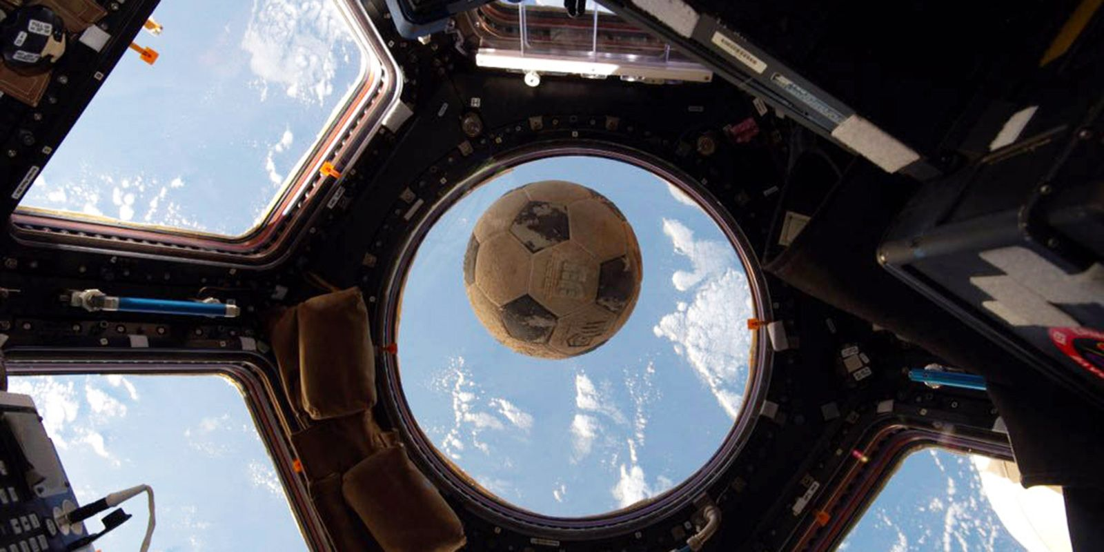 NASA astronaut Ellison Onizuka's soccer ball that survived