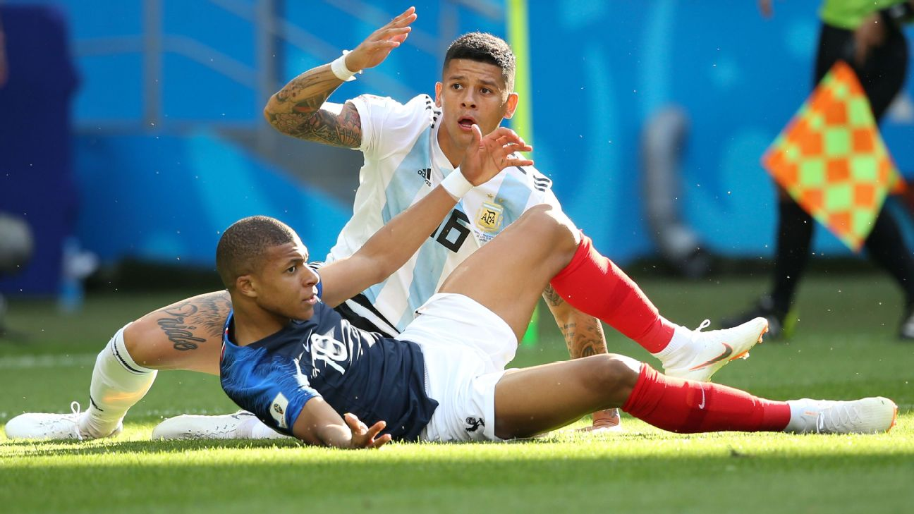 Lionel Messi 6 10 Marcos Rojo 4 10 As Argentina Bow Out To France