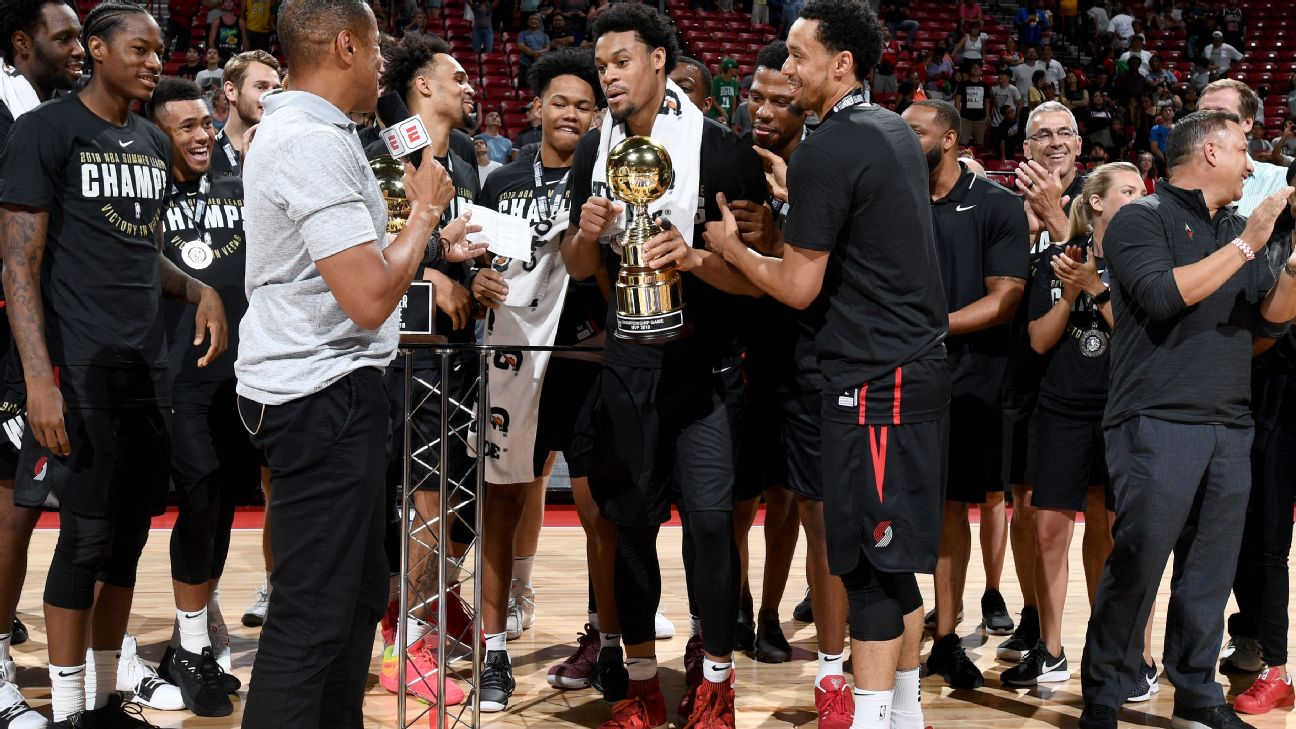 aa2a17346221 Blazers avenge last year s summer league title game loss to Lakers