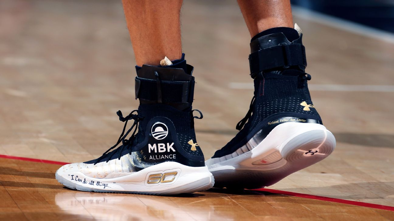 f171066abc74 ... which was a violation of the NBA s rule on any third-party logos  appearing on sneakers.