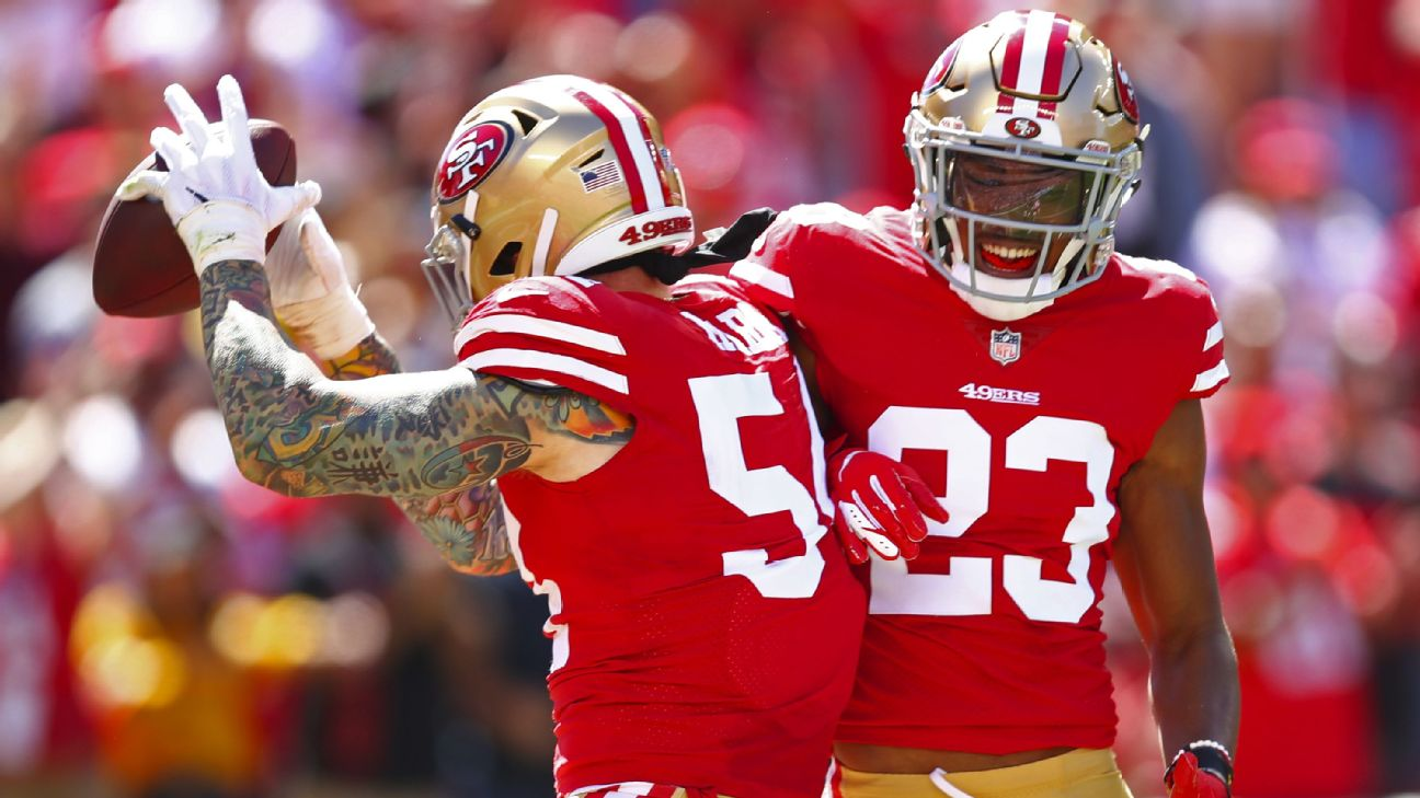 new styles a05d2 b59c2 49ers CB Witherspoon out 1 month (foot sprain) | abc7news.com