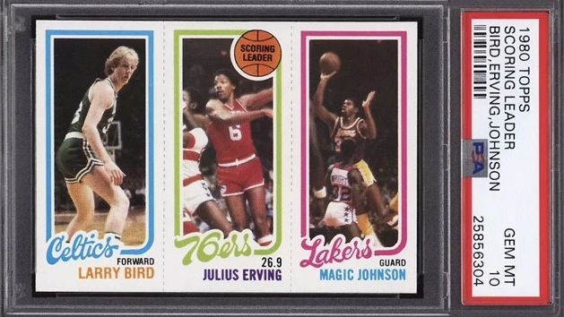 Gem Mint Larry Bird Magic Johnson Rookie Card Goes For 125200