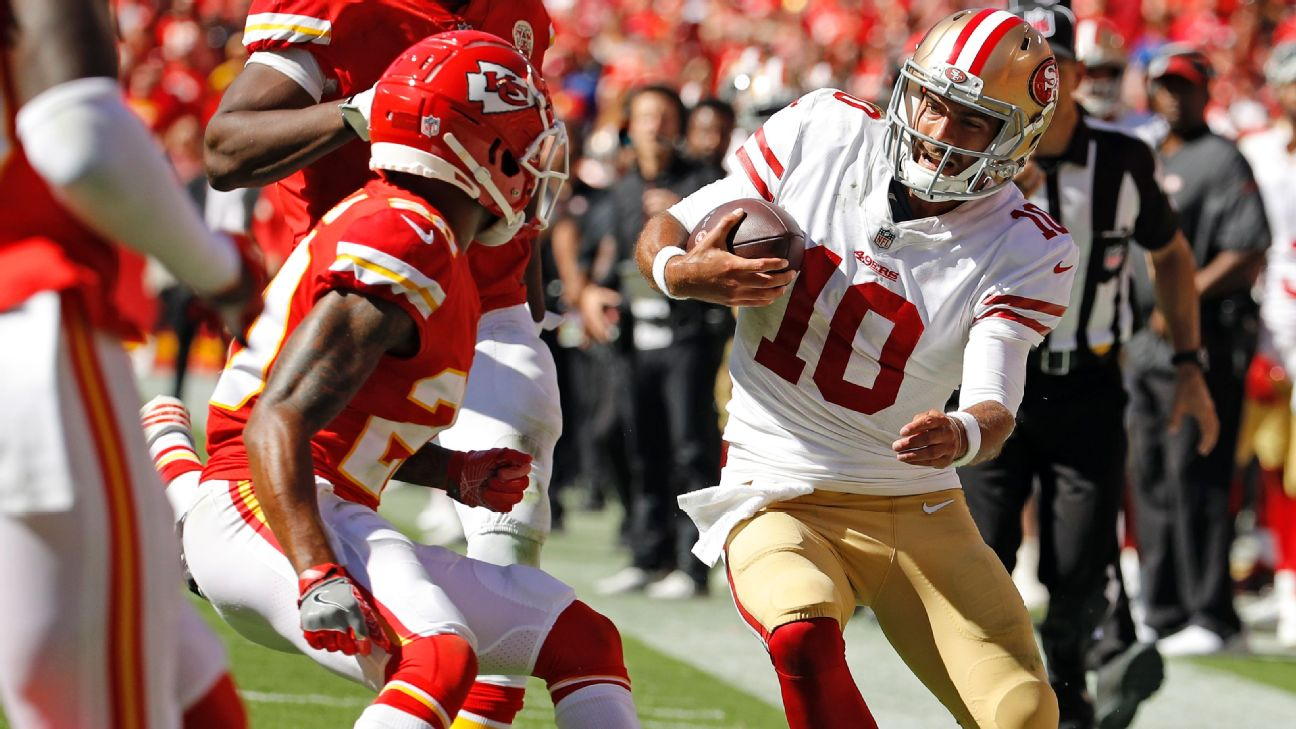 49ers fear Jimmy Garoppolo tore ACL in loss to Chiefs  e8bae5f07