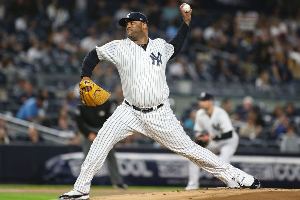 ec073838bf068 Balky knee forces Yanks to place Sabathia on IL