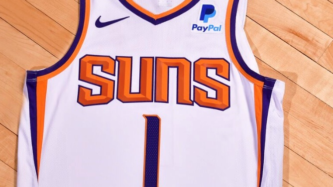 check out 28f9f a07c1 Phoenix Suns sign jersey patch deal with PayPal