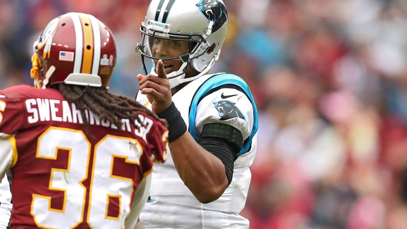 wholesale dealer c1a12 3fc88 D.J. Swearinger miffed by penalty flag for jawing with Cam ...