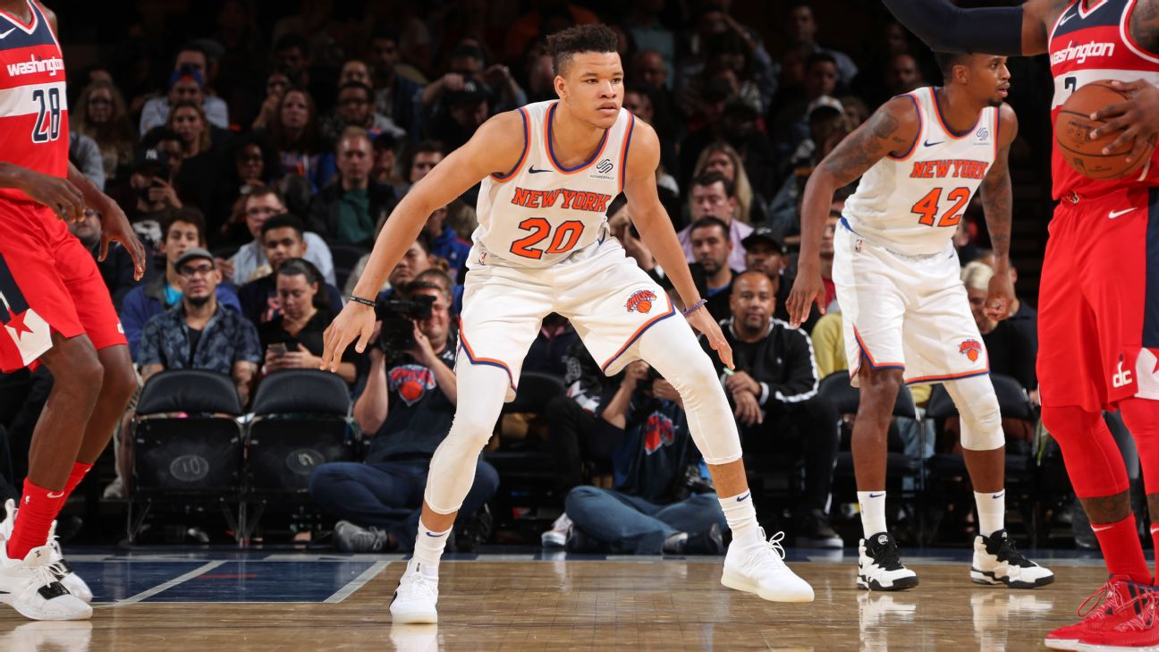 40f40164a Knicks  Kevin Knox loses spot in starting lineup to Frank Ntilikina ...