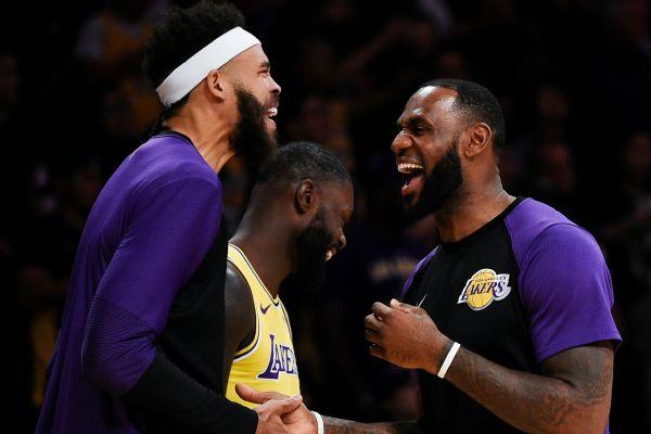 Lakers host rap star Kendrick Lamar as part of  Genius Series ... dc5bf2860