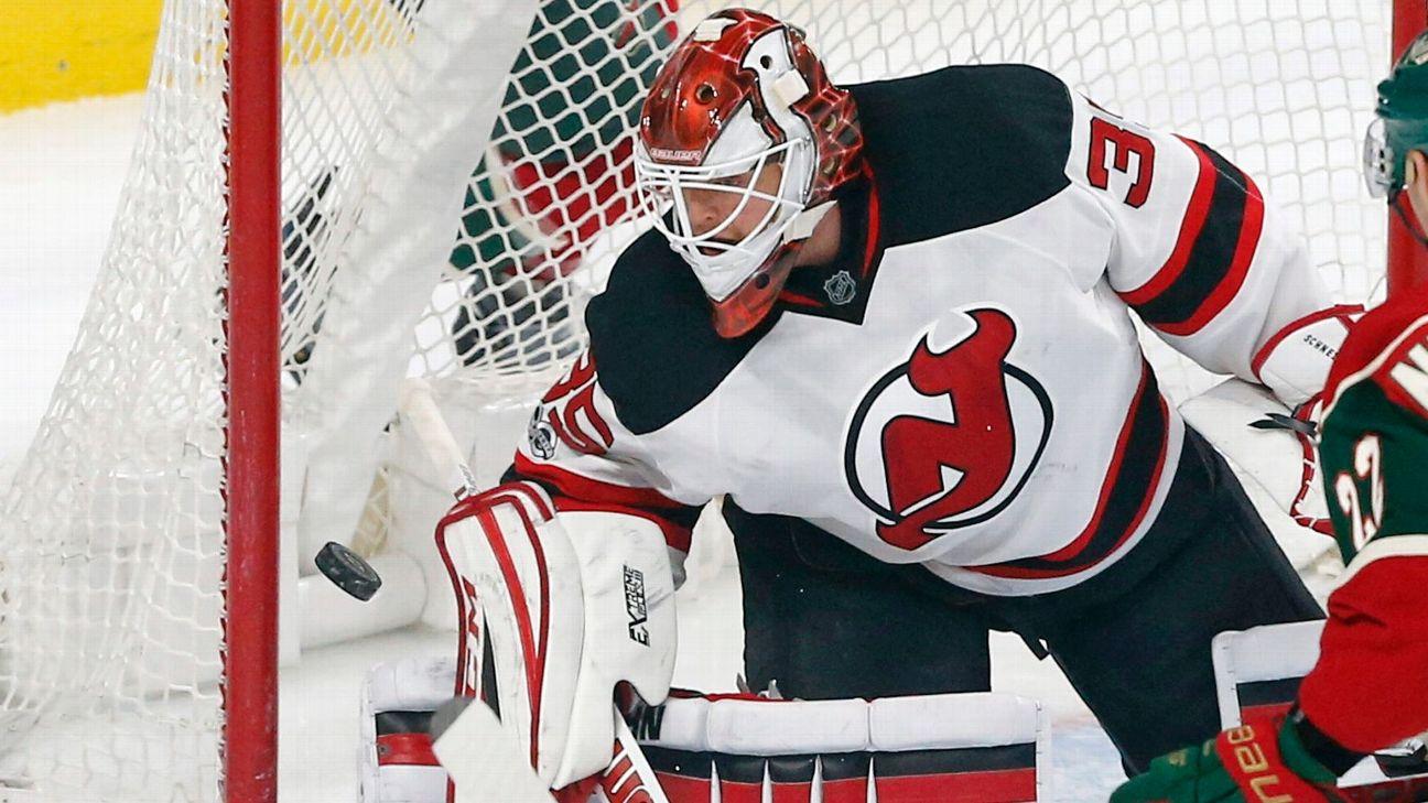 Devils Goalie Cory Schneider Returns From Injured List Abc7ny Com