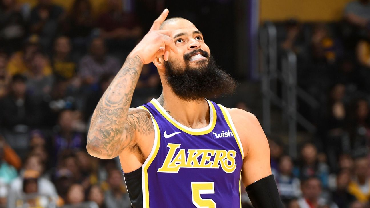 89fc50627 Tyson Chandler gives the Lakers exactly what they needed in debut ...