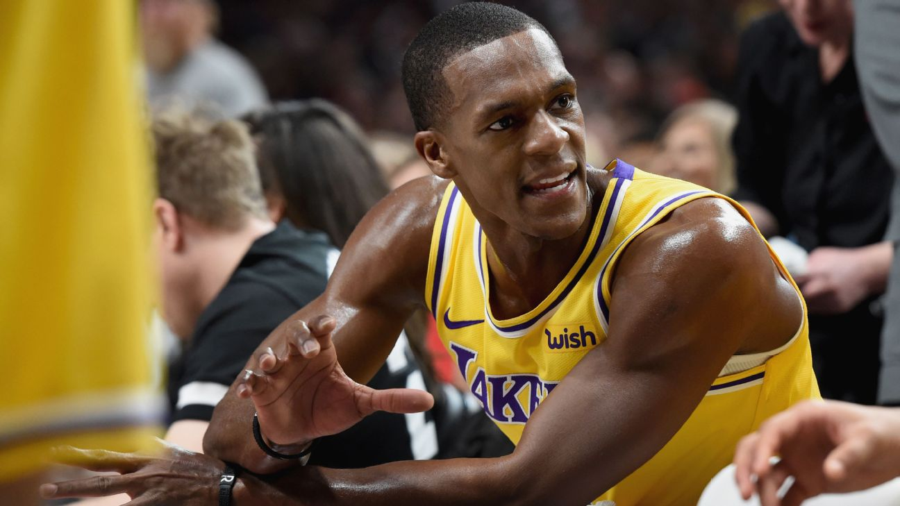 Rajon Rondo serves as coach on floor for 'Baby Lakers' | abc7 com
