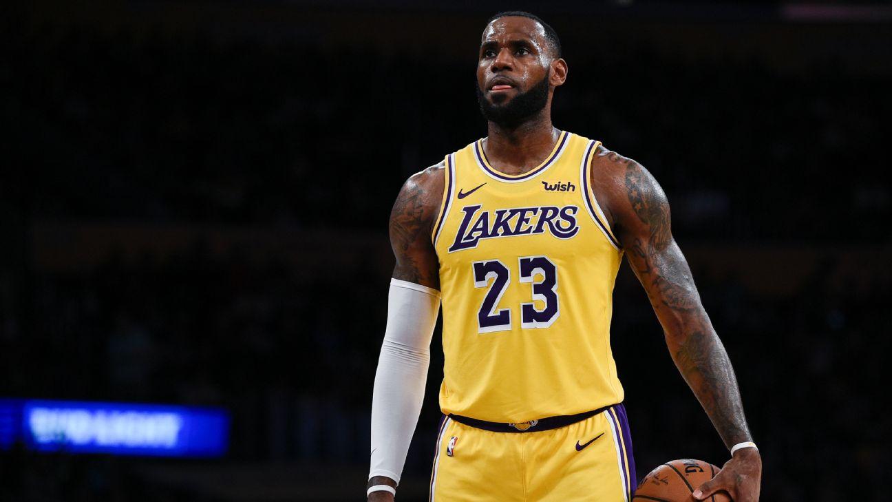 LeBron James, Lakers lead NBA jersey, merchandise sales ...