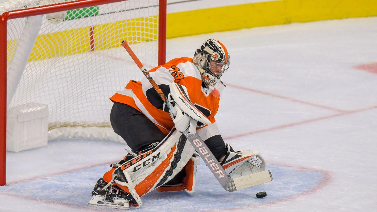 329944105 Flyers call up top goaltending prospect Carter Hart for first time ...