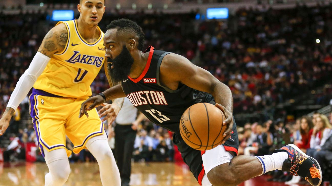 e367ff34e7dd Lakers hope to keep Rockets  James Harden under 50 points
