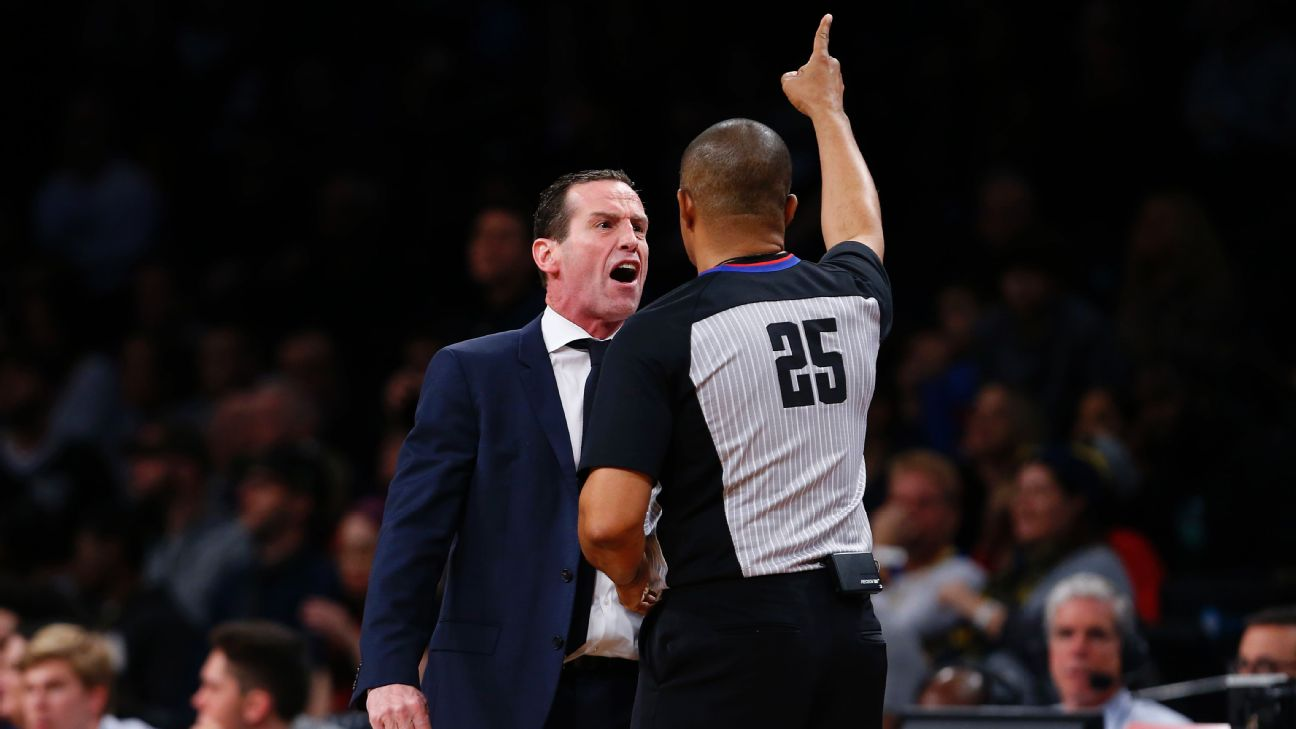 Brooklyn Nets Coach Kenny Atkinson Fined 25 000 After Ejection Abc7 New York