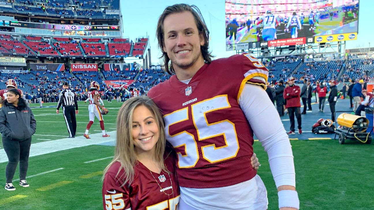 Shawn Johnson more nervous watching husband's NFL debut than