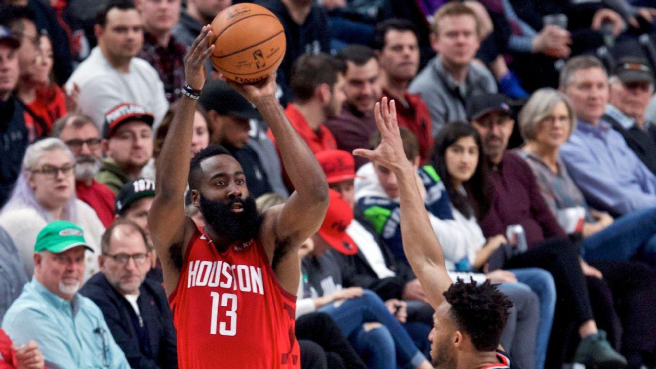 a20657f3e81c Rockets  James Harden falls 2 points short of extending 40-point st ...