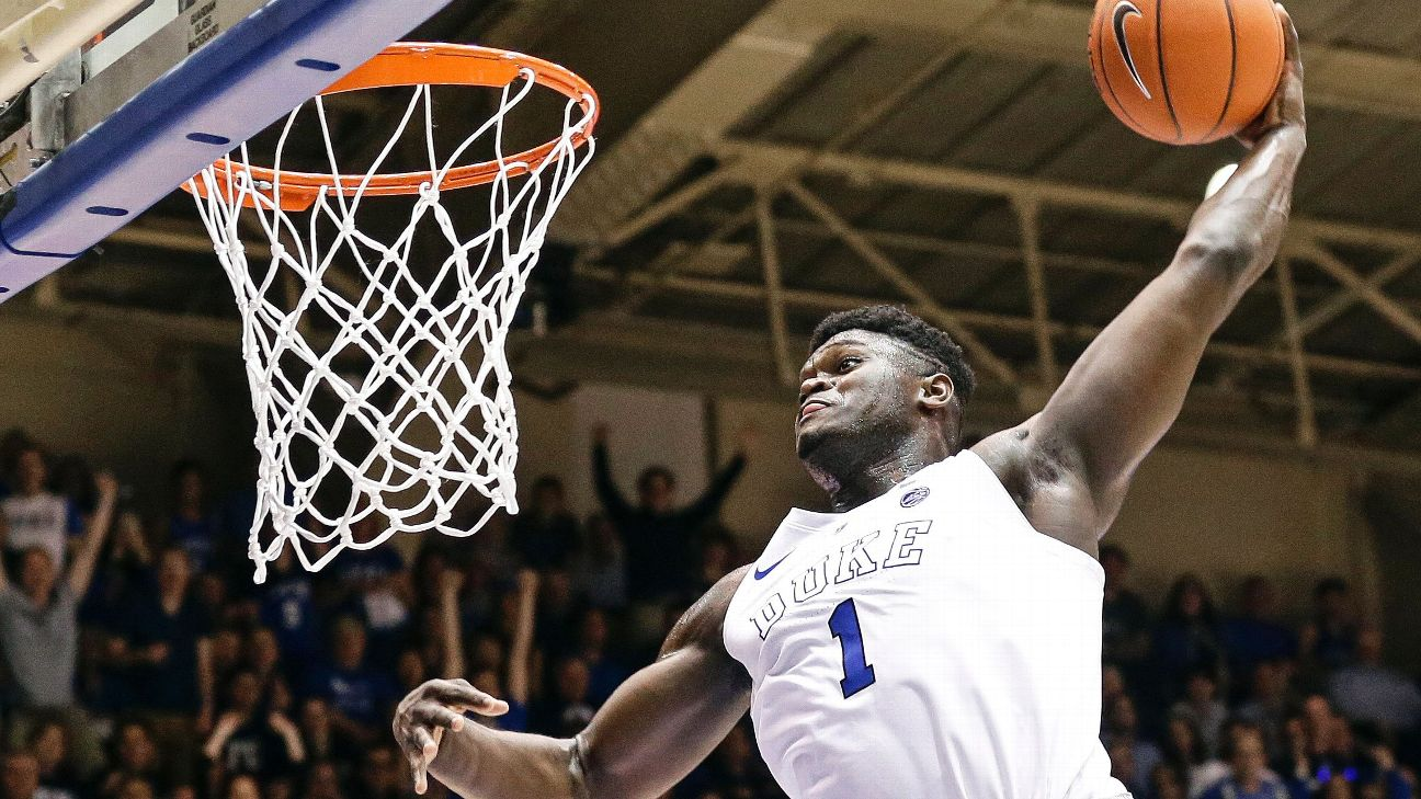 c057f696861c Coach K  No timetable for Duke s Zion Williamson to return from knee ...