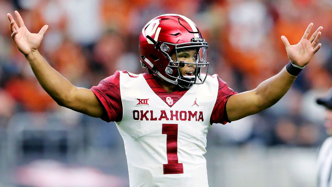 new concept 9a440 0ea52 Kyler Murray enters name in NFL draft, but A's can still ...