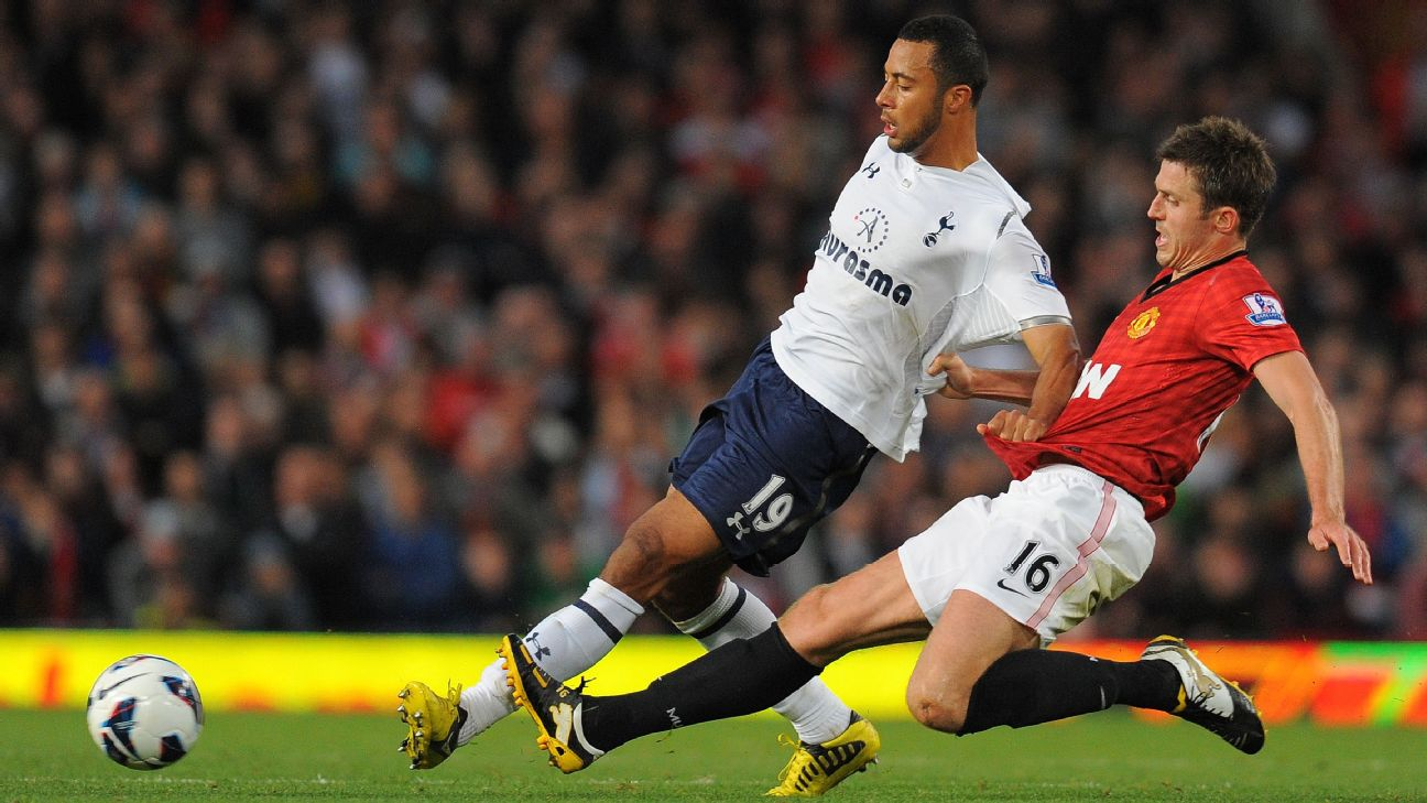 Dembele's performance for Tottenham at Old Trafford in 2012, as Spurs beat Man United 3-2, was notable in showing his full range of unique skills.