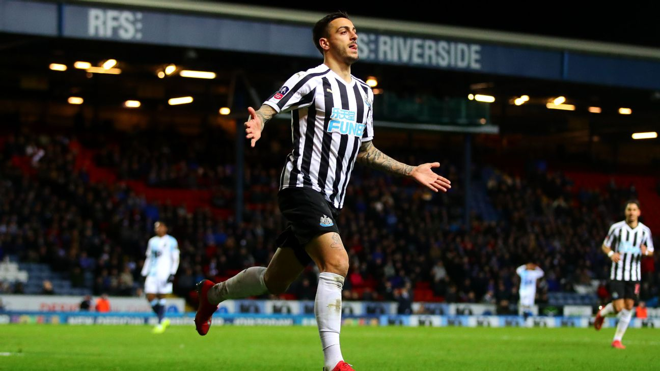 Newcastle get extra-time win, Stoke fall to Shrews in FA Cup replays