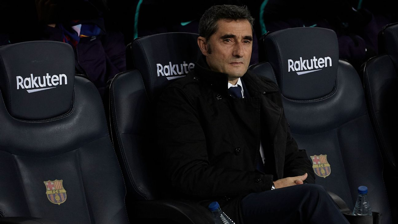 Barcelona manager Ernesto Valverde signed a two-year contract when he joined Barcelona in 2017