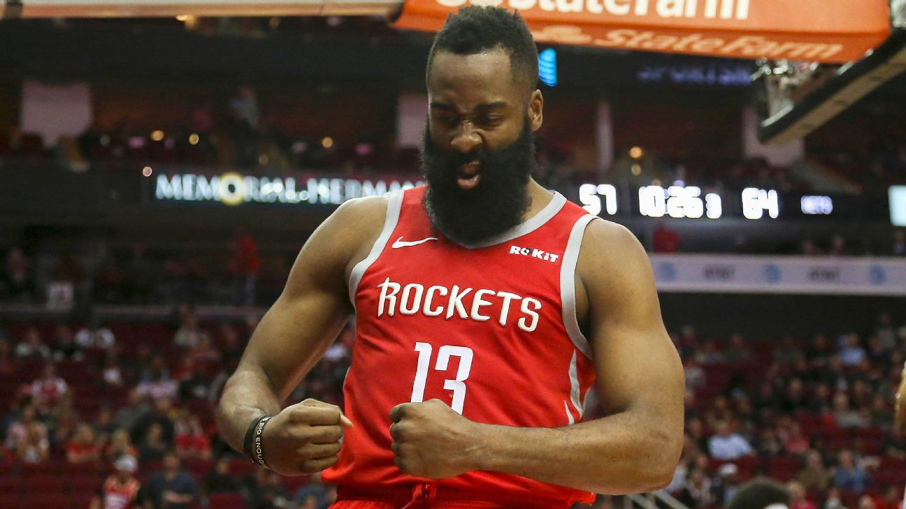 He's on fire: Harden's streak by the numbers