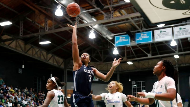 UConn's Walker outscores Tulane in 75-33 rout