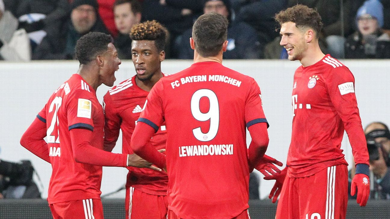 Bayern Munich beat Hoffenheim with Goretzka brace to trim Dortmund s lead
