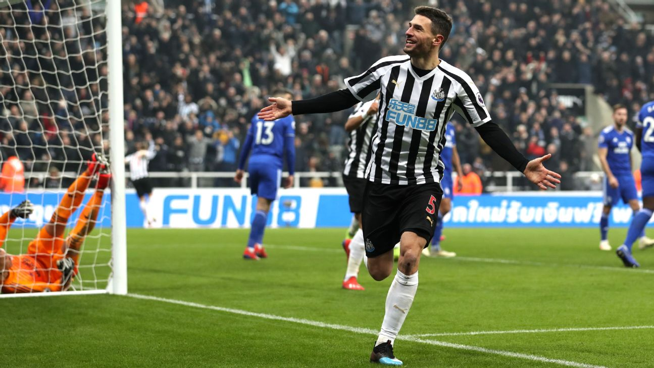 Newcastle out of relegation zone with emphatic win over Cardiff