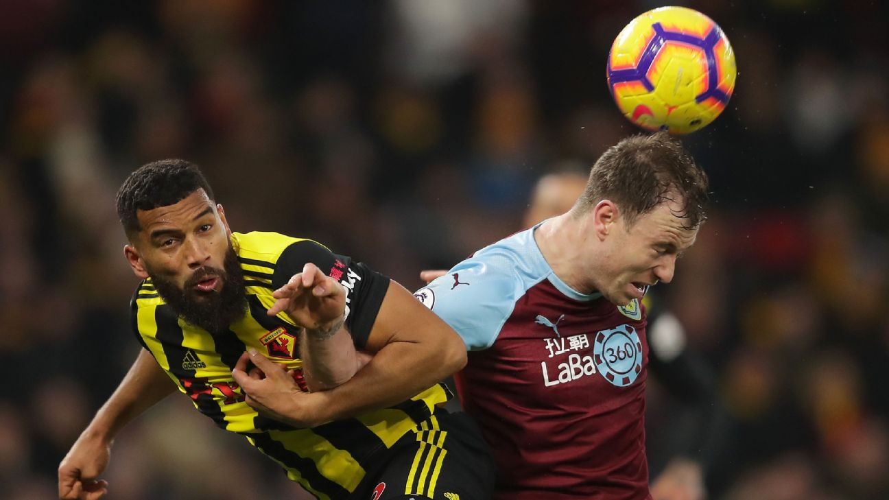 Burnley settle for goalless draw at Watford after Chris Wood denied by offside