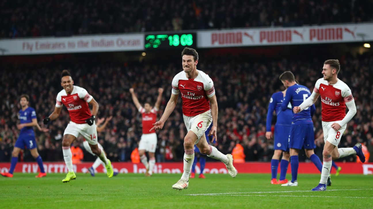 Arsenal led by 9/10 Koscielny in defence and attack; Lacazette also shines