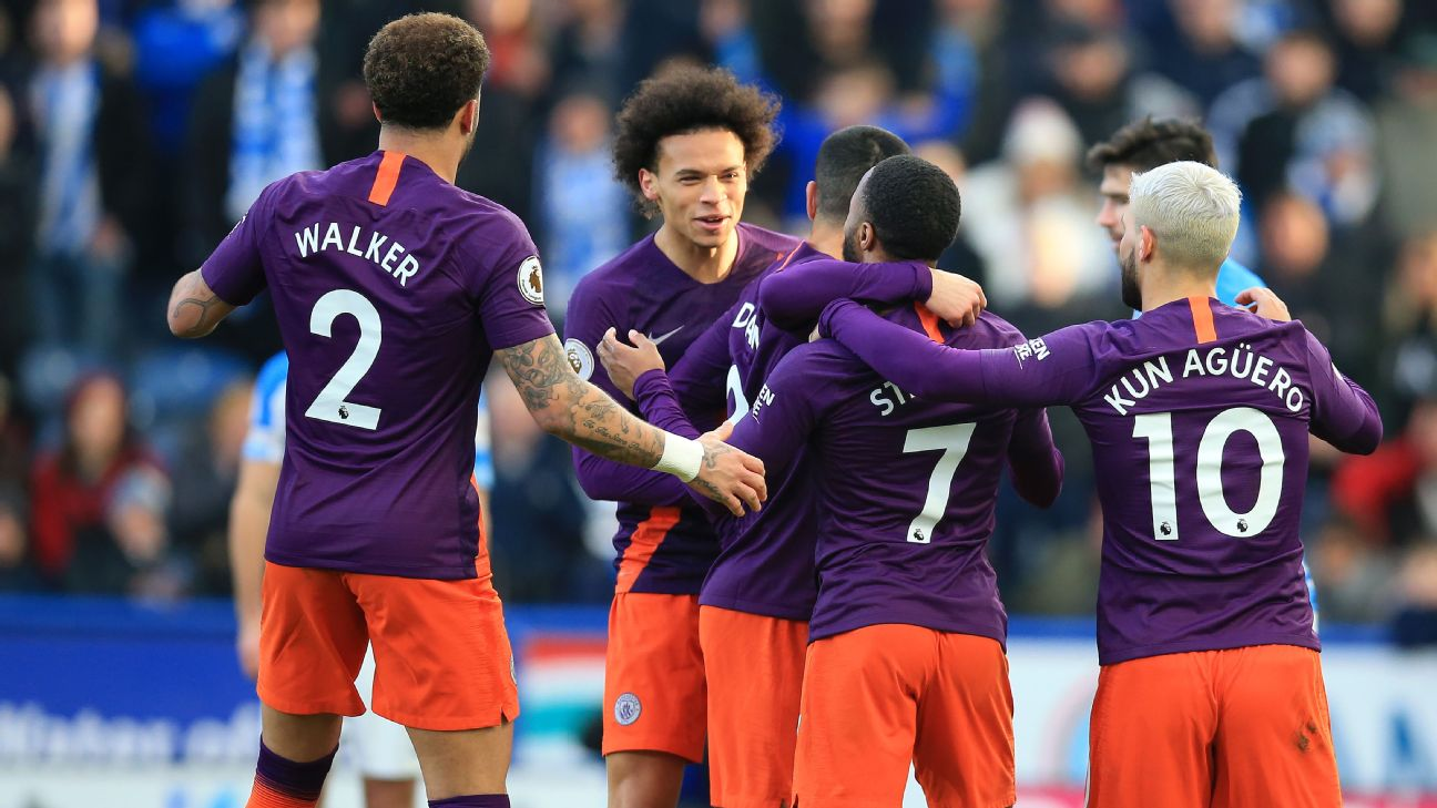 Manchester City cruise against Huddersfield, reduce Liverpool s lead at top