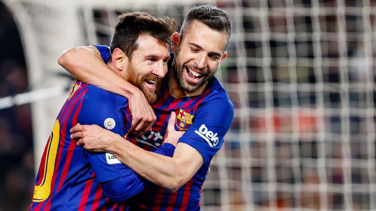 Lionel Messi and Jordi Alba combined once again vs. Leganes, showing again their unique understanding of one another.