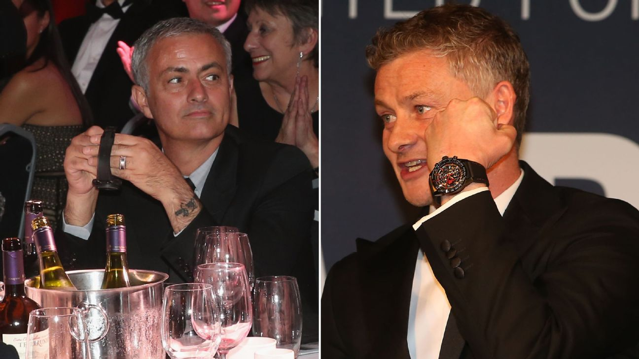 Ole Gunnar Solskjaer's watch was sold at Manchester United's Unicef dinner for more than Jose Mourinho's was two years ago.