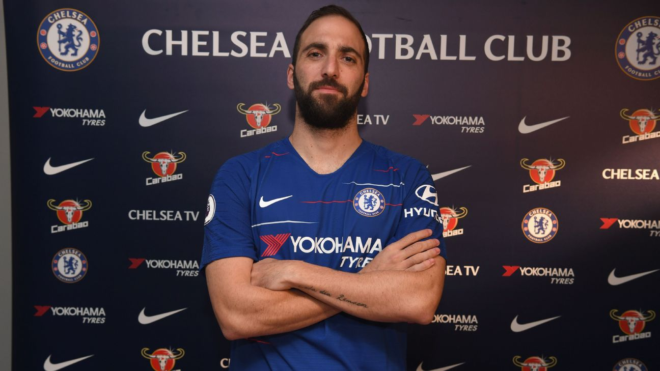 Gonzalo Higuain has joined Chelsea until the end of the season.