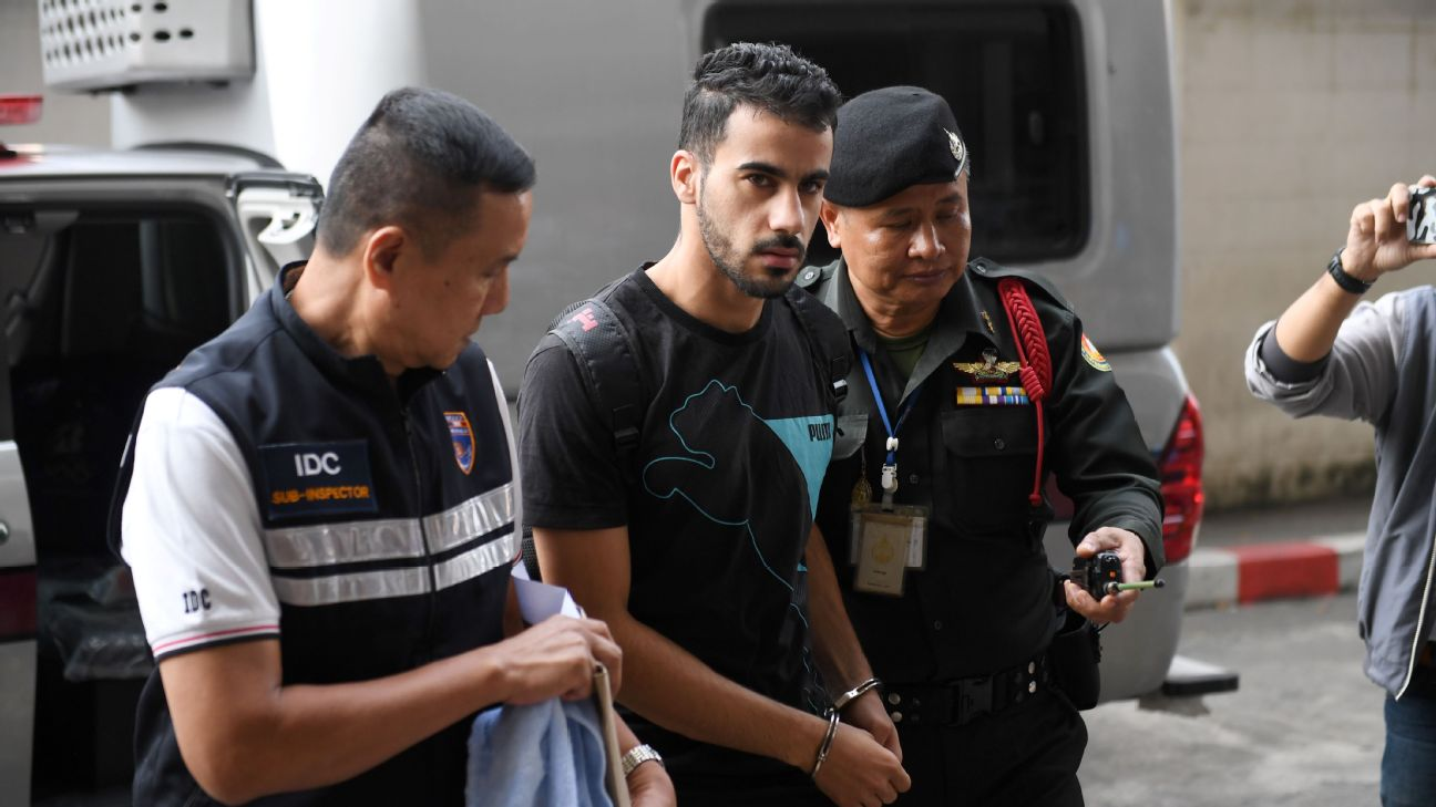 Hakeem al-Araibi, a Bahraini refugee in Australia, was arrested in Thailand when he went there for vacation in November.