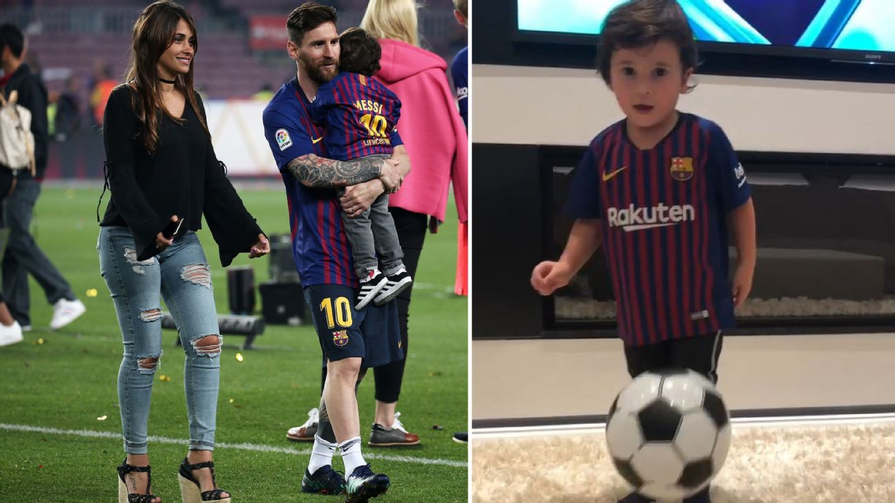 It would appear that when it comes to Lionel Messi's middle son, Mateo, the apple hasn't fallen far from the tree.