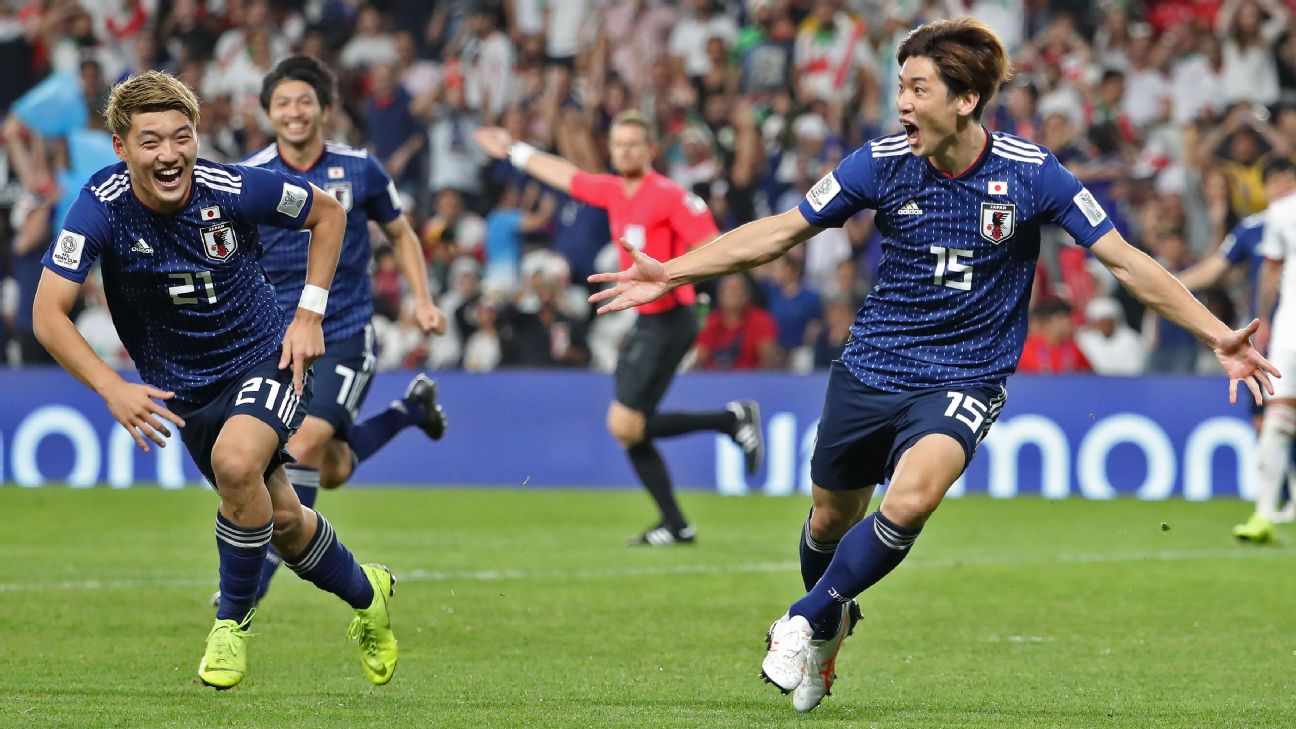 Japan ease to Asian Cup final place with victory over favourites Iran