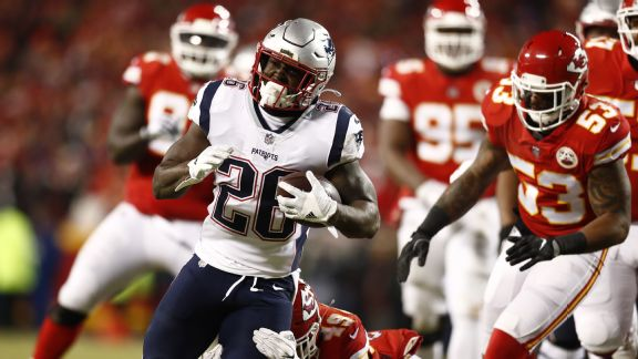 Sony Michel is the only rookie in NFL history to rush for five touchdowns  in the same postseason e40f70cc7