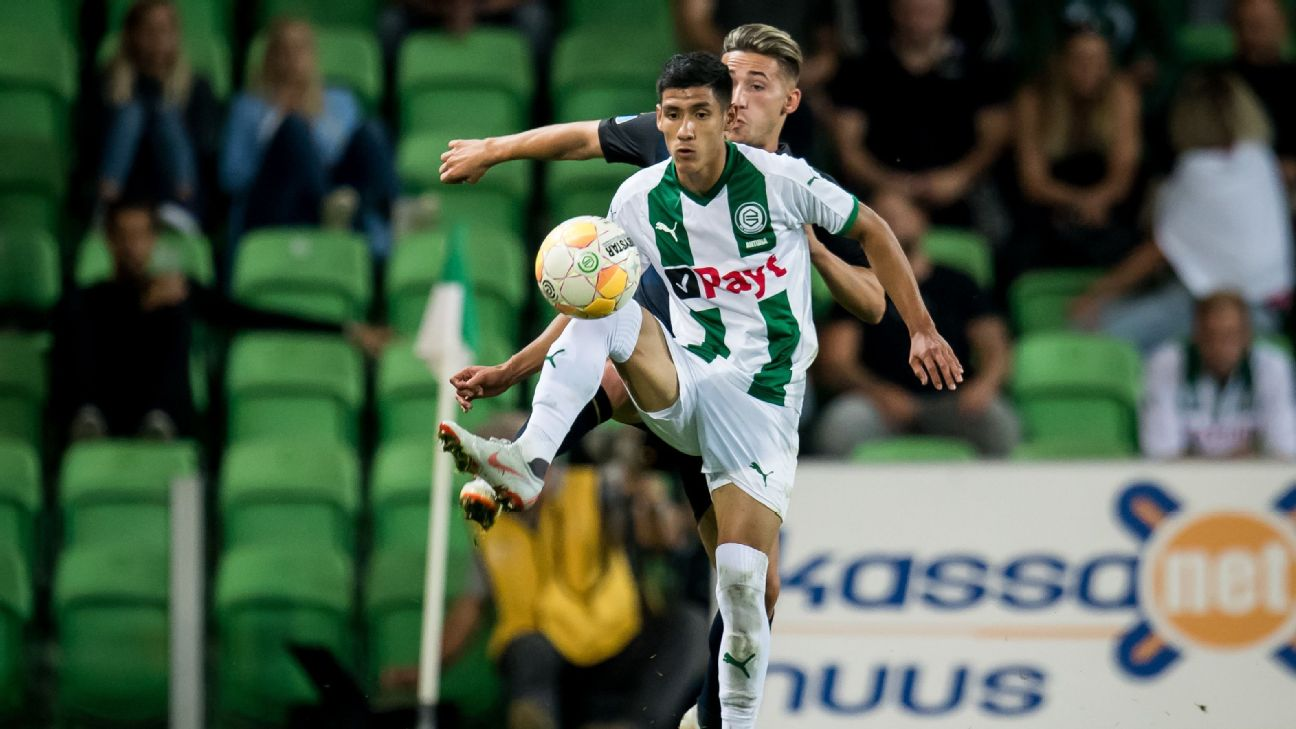 Uriel Antuna, in action for FC Groningen, has been loaned from Manchester City to LA Galaxy.