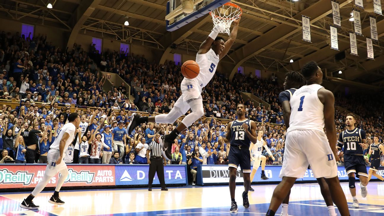 Duke player power rankings: The Zion show rolls on | abc11 com