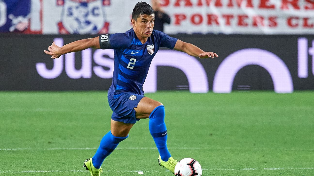 Nick Lima controls the ball in the U.S. men's national team's friendly win over Panama.