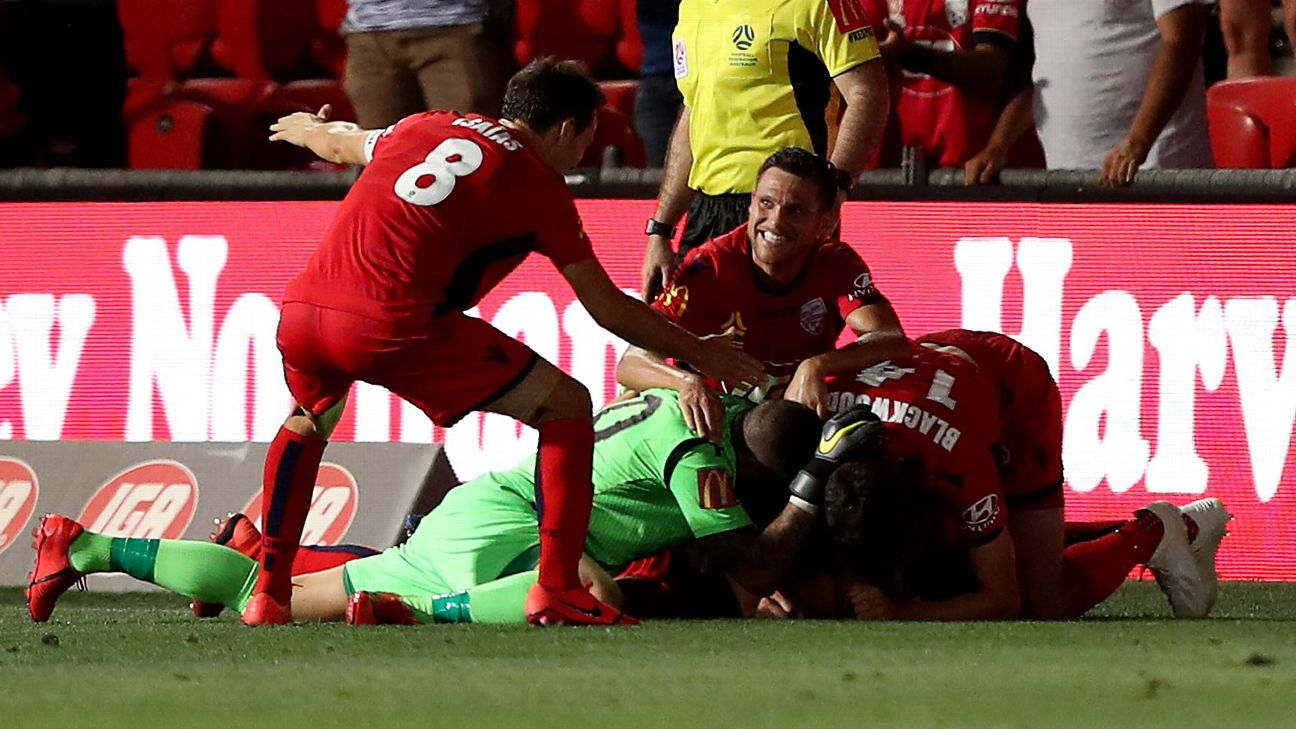 10-man Adelaide United s stunning comeback from 3-0 down to beat 9-man Brisbane Roar