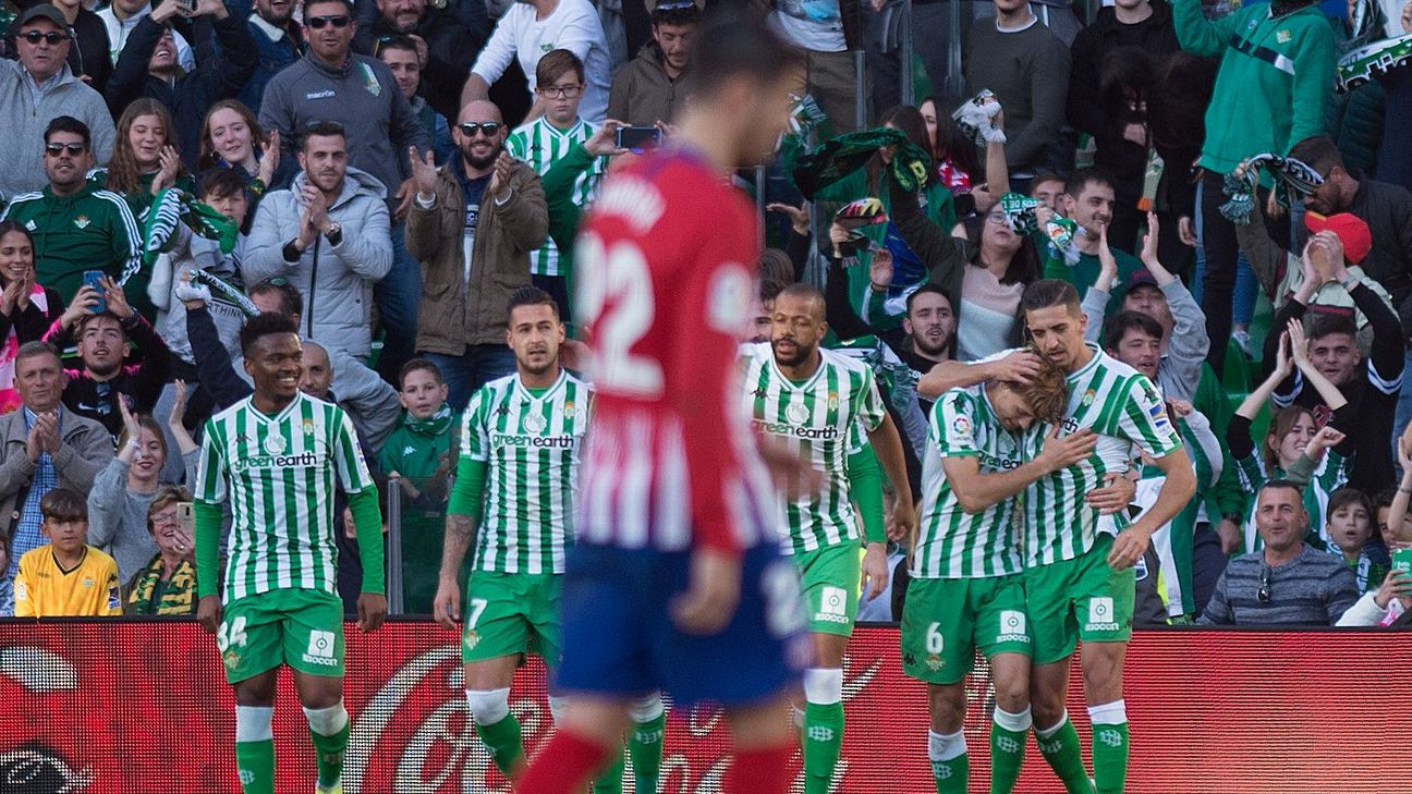 Atletico title bid suffers with defeat at Betis in Alvaro Morata debut