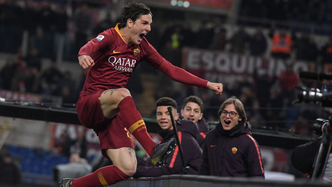 Teenager Nicolo Zaniolo strikes again as Roma draw with Milan