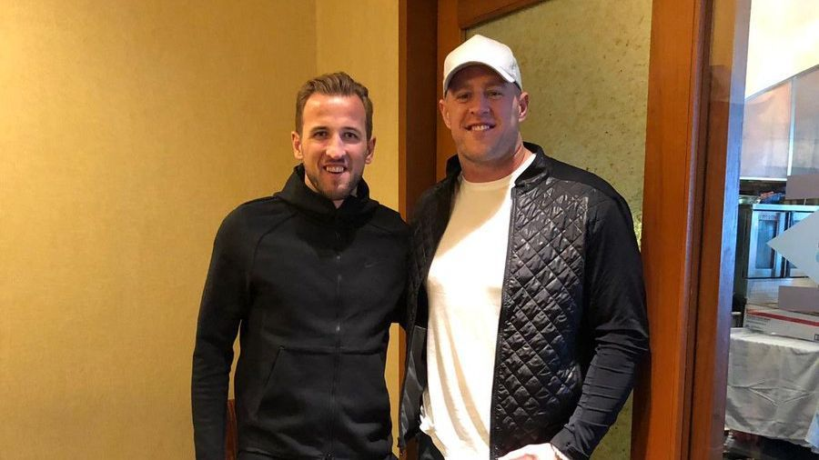 Harry Kane and J.J. Watt