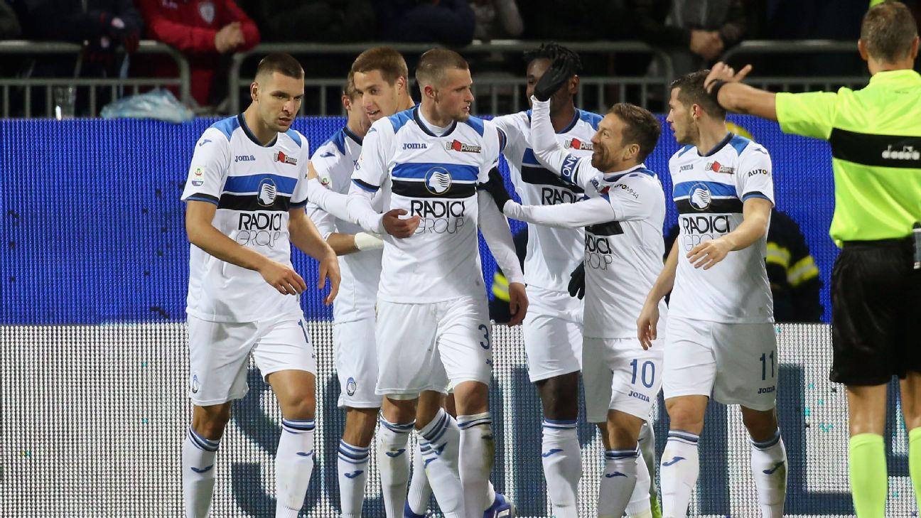 Atalanta win at Cagliari to close in on Champions League places