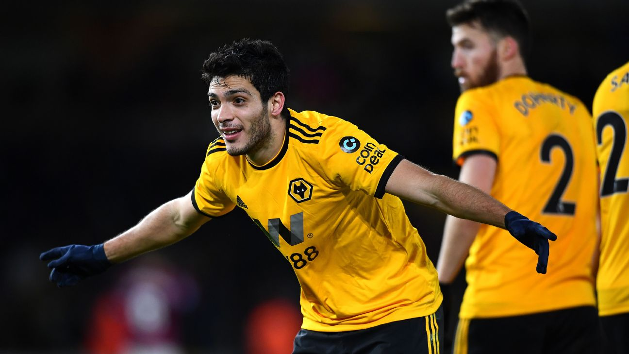 Raul Jimenez has nine Premier League goals for Wolves and with four more would equal Javier Hernandez's single-season record for a Mexican.